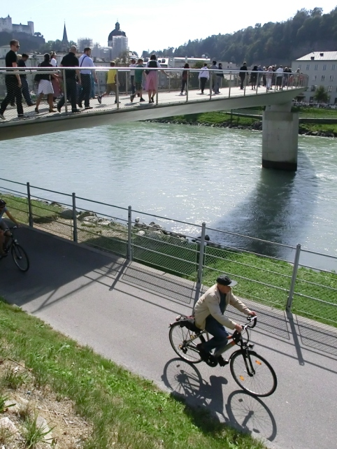 Congestion Free; networks for pedestrians and bikes in Salzburg
